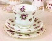"Royal Albert ""Sweet Violets"" Tea Trio"