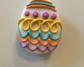 Polymer clay Easter egg magnet