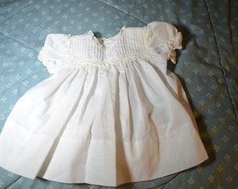 Vintage White Dress for Baby Girl by Johnston for Marshall Field Co.