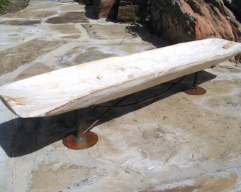 Primitive Large Wooden Dough Bowl Hand Carved shabby WHITE Treenware Trencher WITH stand 0854