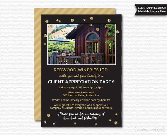 Client Appreciation Invitation Office Party Invitation Printable
