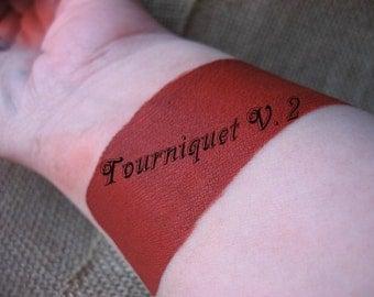 Tourniquet V. 2 by Drac Makens - Cream Liquid Matte Lipstick Deep Rich Bold Red - Marilyn Manson Inspired Lipstick