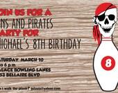 Custom pirate birthday invitation