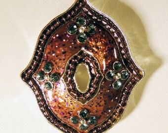 Necklace Earring 3 Strand Enamel Jewelry Set