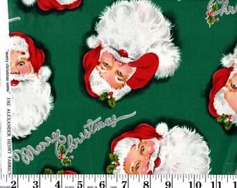 1 Yard, Merry Christmas Santa The Alexander Henry Fabrics