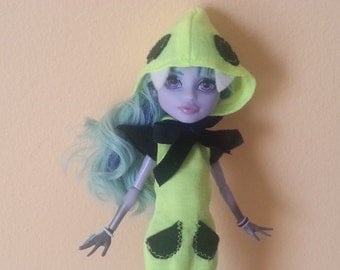 Monster Doll Hoodie Dress - Neon Hoodie Dress made to fit All Monster Ever After High Dolls
