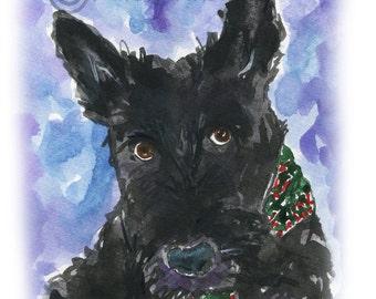 Scottish Terrier Dog Art Print Scottie Dog #65