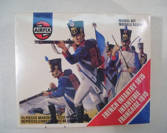 Vintage Airfix French Infantry 1815 Soldier Model Kit Figure, HO/OO, New 1978