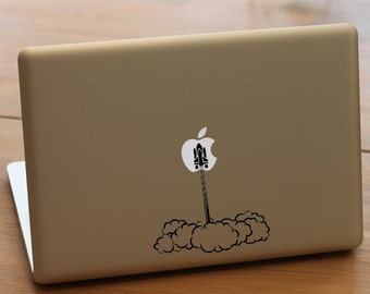 Space shuttle launch - Macbook decal, Macbook pro deca, macbook air decal