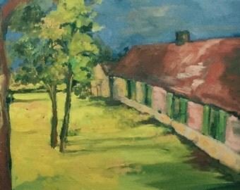 Juranville Farmhouse Print by artist Sablak