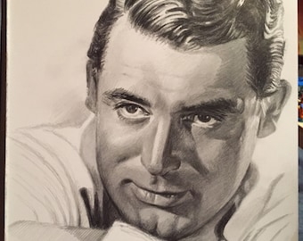 Original Drawing of Cary Grant  (NOT a print)