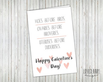Happy Galentine's Day printable card- 4x6, Instant Download