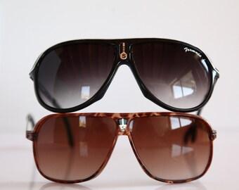 Vintage Black Sport's Frame, Gray lenses PLUS Brown Frame, Brown Lenses. 2 PAIRS