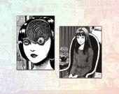 Junji Ito Set of 2 Stickers