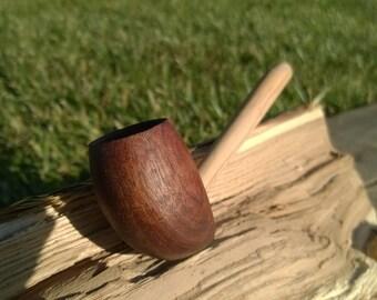 Small Black Walnut and Dogwood pipe