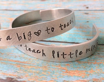 it takes a big heart to teach little minds bracelet , Preschool teacher gift, teacher gift, kindergarten teacher gift