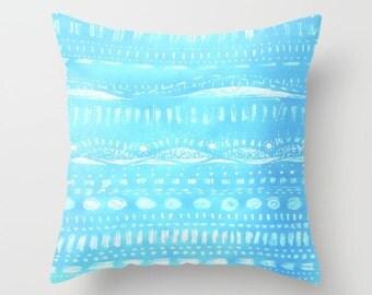 Light Blue Throw Pillow Cover, light blue pillow, blue pillow cover, pastel blue pillow, blue throw pillow, blue white pillow