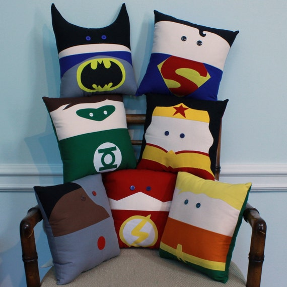 The Justice League Inspired Set of Decorative Pillows