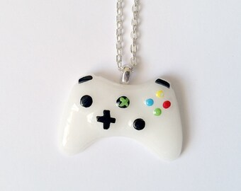 White Xbox Controller Necklace - Gamer Girl Nerdy Jewelry Geeky Jewelry Geeky Necklace Gamer Necklace Gamer Jewelry xBox Jewelry