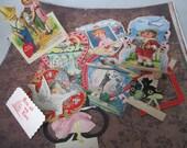 Vintage Valentines day cards 8 pieces lot D