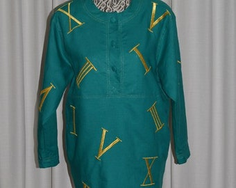 Vintage Dress by Adam Douglas Adrianna Papell Green 1980s