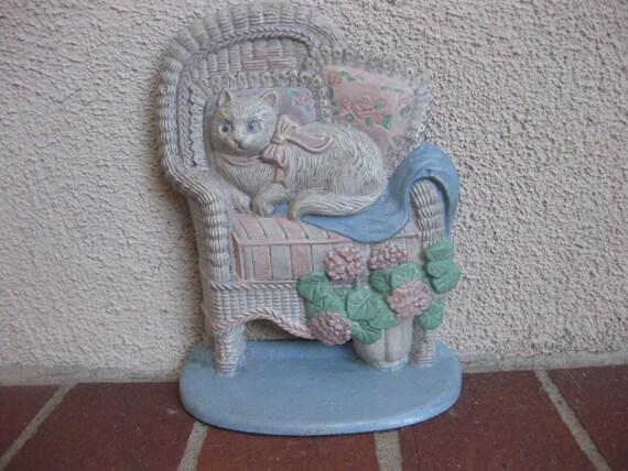 Vintage cast iron cat doorstop - Cast iron cat doorstop ...