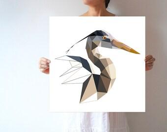 L76 - Great Blue Heron - bird art print