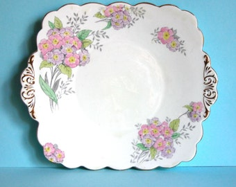 Delightful 1930's Folley Bone China Cream Bone China Sandwich Plate