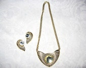 Wings Necklace and Earring set / women's jewelry / teen jewelry / women / jewelry / Vintage 1990's