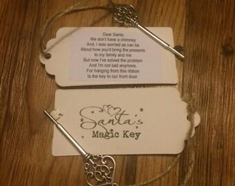Santa Magic Key Perfect Xmas  Eve Gift For Kids