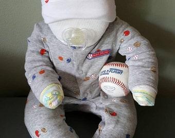 Baby shower Diaper cake baseball baby boy