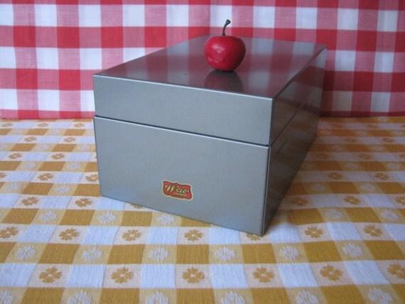 Kleiderstander Weis Metall ~ Weis metal file box abc index industrial office vintage