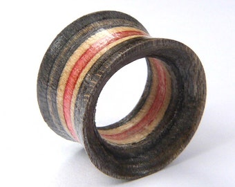 LAST ONES 6mm only, Recycled Skateboard, Pair of Tunnels, Plugs and Tunnels, Ear Gauges, Broken Skateboards, Wooden Plug, Wood Tunnel