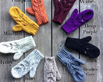 Ready to Ship - Owl Mittens, Owl Accessories, Owl Mitts, Owl Gloves, Animal Mittens, Choose Your Color