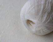 Cobweb snow white wool yarn - haapsalu shawl yarn