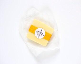 Lemongrass & Eucalyptus Handmade Soap - All Natural, Cold Process, Vegan
