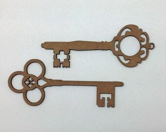 Chipboard Keys set of 2