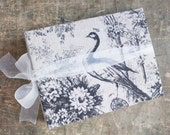 Extra Large Linen Photo Album Rustic Wedding Peacock Guest Book Baby Photo Book Custom Made