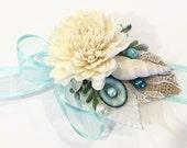 Mermaid Corsage-Beach Wedding Wrist Corsage-Mermaid Wedding