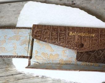 1920s leather collar case  // edwardian collar case // vintage purse