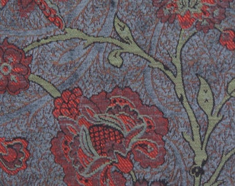 Slate Boston Vine Jacquard Woven Floral Upholstery Fabric