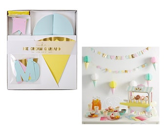 Ice Cream Garland by Meri Meri, Ice Cream and Sprinkles Party Collection, Party Decorations, Party Supplies