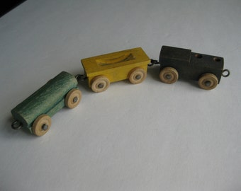 Vintage Wooden Train Toy