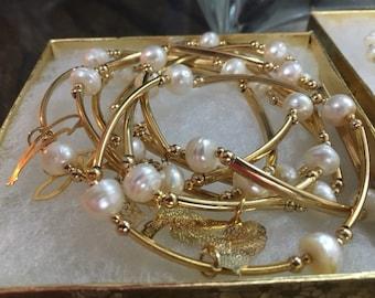 Pear 18k gold filled handmade bracelet