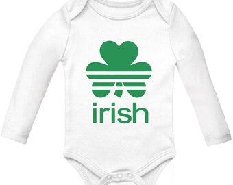 Baby Sports Clover - St. Patrick's Day - Long Sleeve Onesie