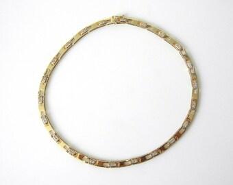 14K Gold Diamond Choker Necklace