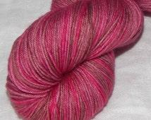 Woodrose on Mad Sock 75/25 SW merino and nylon sock yarn