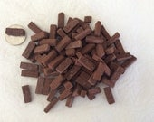 Masonryminiatures by Rex - Handmade red loose miniature brick - 100 count- 1:12 scale
