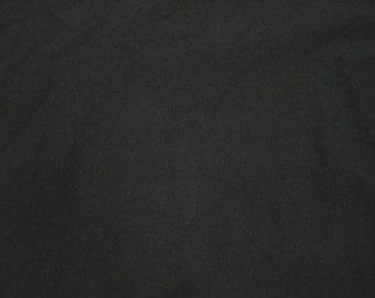 "Black Cotton Fabric Jersey Knit By Yard - 67""W 3/16"