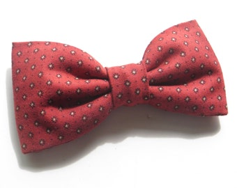 Red Bow Tie Red Tan Bow Tie Men's Classic Red Bow Tie, Red Pretied Bow Tie Red Freestyle Bow Tie